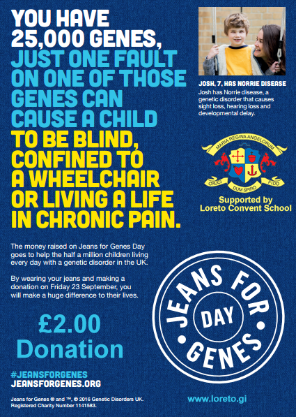 Loreto Convent School Gibraltar | Jeans for Genes day - Friday 23rd September
